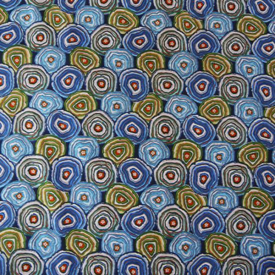 Coton Géodes bleu