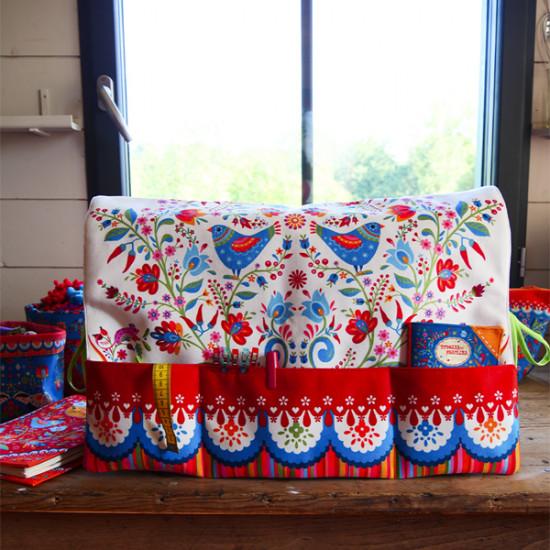 Sewing kit : Sewing machine cover Folk