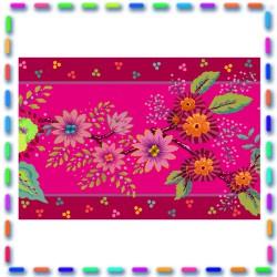 Bordure velours Enchantée rose