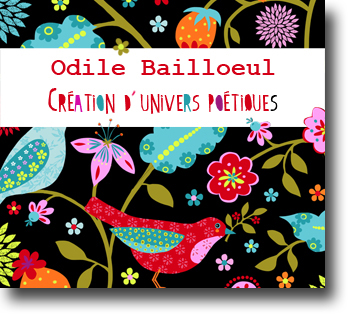 Odile bailloeul - tissus couleurs - kits couture - transferts sur tissus