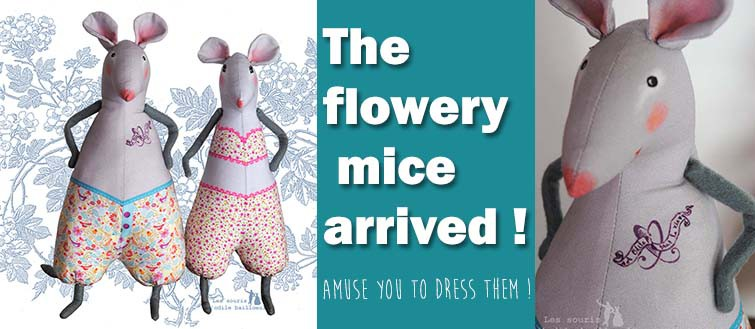 2 flowered mice to dress